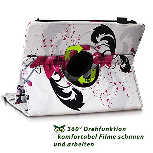 NAUC Tablet Hülle kompatibel für Lenovo Tab 2 A10-70 Tasche Schutztasche Cover Schutz Case 360° Drehbar Etui hochwertiges Kunst-Leder, Farben:Motiv 7