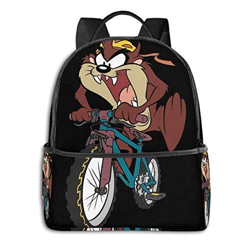 Hdadwy TAZ Fashion Backpack Bookbag Rucksack Geldbörse für Frauen 12X14.5X5 in Schwarz