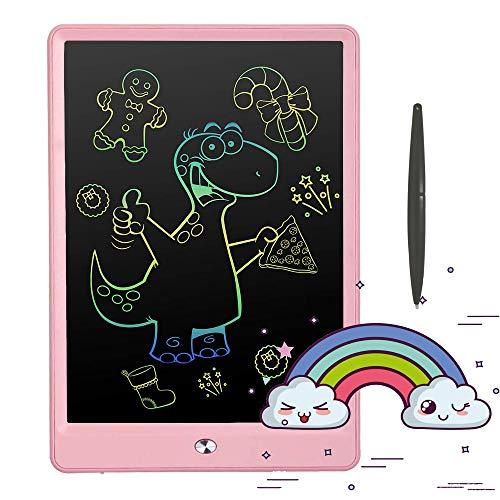 Pilipadaお絵かきボード10インチお絵かきおもちゃ電子パッド電子メモ,お絵描きボード女の子おもちゃ男の子誕生日子供知育玩具クリスマスプレゼント人気(ピンク)
