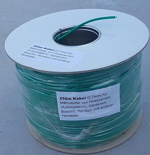 GENISYS 250m Kabel (2,7mm) + 200 Haken + 10 Verbinder für Husqvarna Automower/Gardena R40LI R70LI