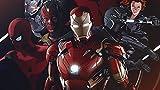 Póster de la web de la guerra civil del equipo Iron Man Iron Man acabado mate de papel impreso 30,5 x 45,7 cm (Multicolor)