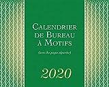 Motifs 2020 7.5 x 6 Inch Monthly Double-View Desk Calendar, Artwork Art Mathematics Geometry (French Edition)