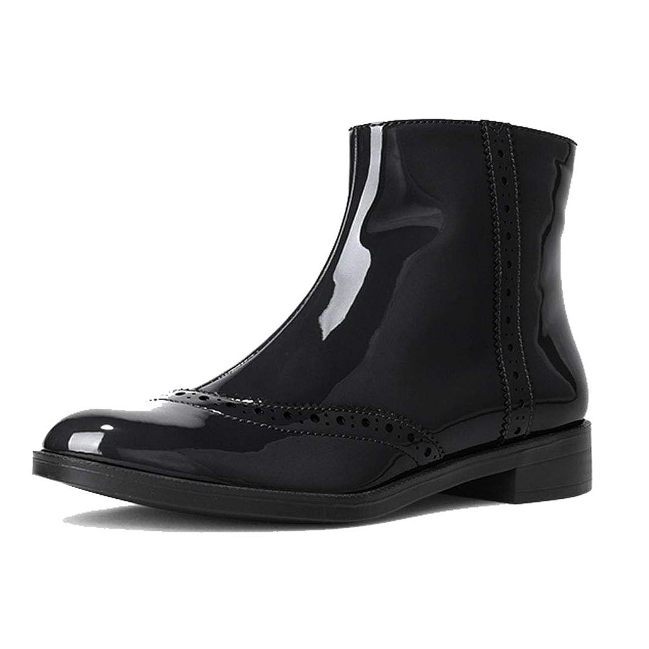 なぞらえるアレルギー性海レディースブーツ靴フラットブーティーマーティンブーツすべてのあなたの服に合うアンクルブーツ 安全?保護用品 (Color : Black, Size : 38)