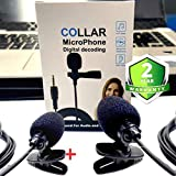 Drumstone [Buy 1 Get 1 Free] Lavalier Clip on Multi-Functional Microphone Perfect for Recording YouTube/Interview/Video Conference/Podcast/Vlogging with 3.5mm Jack for All Devices(Black)