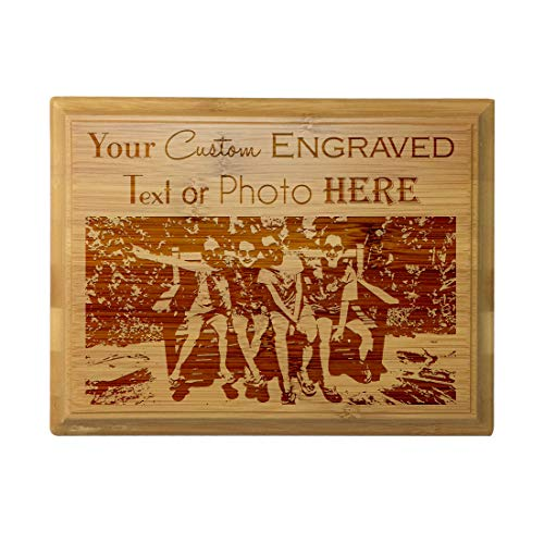 Custom Personalized 3D Laser Engraved Bamboo Finish Plaque with Your Personal Message, Text, Logo, or Photo - Wedding, Housewarming, Anniversary, Birthday, Father's Day, Christmas, Gift (9X12)