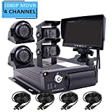 JOINLGO 4 Channel H.264 2.0MP 1080P AHD Two SD 512GB Mobile Vehicle Car DVR MDVR...