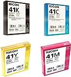 RICOH 【4色セット】リコー SGカートリッジ GC41K, C,M,Y (Mサイズ)純正品 (RICOH SG 3200 / 2200 シリーズ, IPSiO SG 2100/ 3100/ 3120 シリーズ他対応)