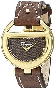 Salvatore Ferragamo Women's FG5060014 BUCKLE Analog Display Quartz Brown Watch image