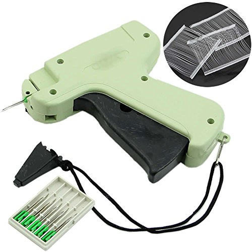 "HeroNeo Garment Price Label Tagging Clothes Tag Gun 3""1000 Barbs + 5 Needles Set Tool"