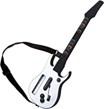 Wii guitar hero for wii contoller wireless compatible with guitar hero Wii rock band 2 games Guitar Hero World Tour Bundle (White color )