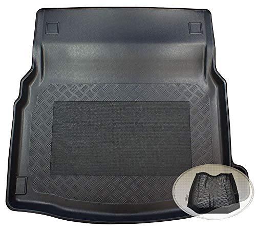 ZentimeX Z3025673 Antirutsch Kofferraumwanne fahrzeugspezifisch + Klett-Organizer (Laderaumwanne, Kofferraummatte)
