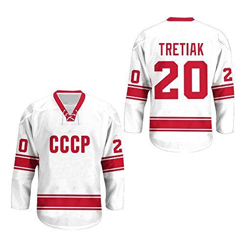 borizcustoms Vladislav Tretiak USSR CCCP Russian Hockey Jersey New Sewn Stitch XS-2XL Halloween Shirt (46)