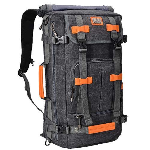 WITZMAN Rugzak voor heren, canvas rugzak, laptoptas, reistas voor outdoor, wandelen, kamperen