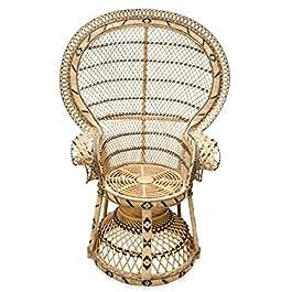 Casa Padrino Fauteuil en rotin de Luxe Couleurs Naturelles 114x 80x h. 150cm–Meubles Vintage