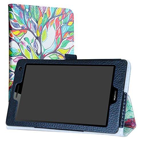 Labanema Huawei Mediapad T3 7 3G Custodia, PU Pelle Slim Flip Case Cover Protettiva Pieghevole Stand per 7  Huawei Mediapad T3 3G Tablet - Love Tree