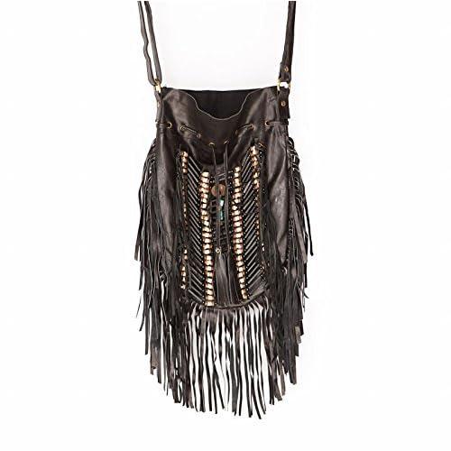 10bc6f3a05cd Black Fringe Handbag  Amazon.com
