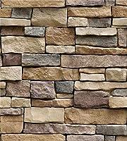 家の装飾3D PVCの木の穀物の壁紙レンガの石の壁紙の自己接着性のリビングルームの寝室3D壁紙の装飾 (Color : SA 1007, Dimensions : 45cmx10m)