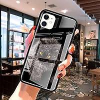 Zwppg かわいいブリティッシュショートヘアの猫iphone11 Pro Max XS XR X 8 7 6 6S Plus SE2020スタリナイト電話CoqueFun用の最新ガラスケース-T05-for iPhone 11 Pro