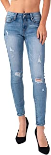 Women's Premium Stretch Ripped Hole Skinny Denim Jeans-Destroyed Lift Jeggings