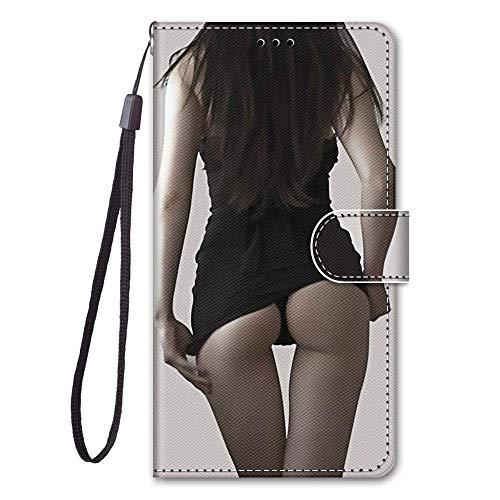 zl one Compatible con/Reemplazo para la funda del teléfono Xiaomi Redmi 5A PU Protección Lindo Pintado Ranuras de Tarjetas Cartera Flip Cover (b04)