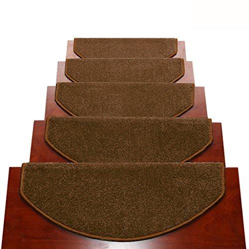 Tappeti scale2 BBYE Extra Spesso Stair Carpet Libero Autoadesive Antiscivolo Solido della Famiglia di Legno Passaggio Pad (Colore : # 4, Dimensioni : 65 * 24cm-A)