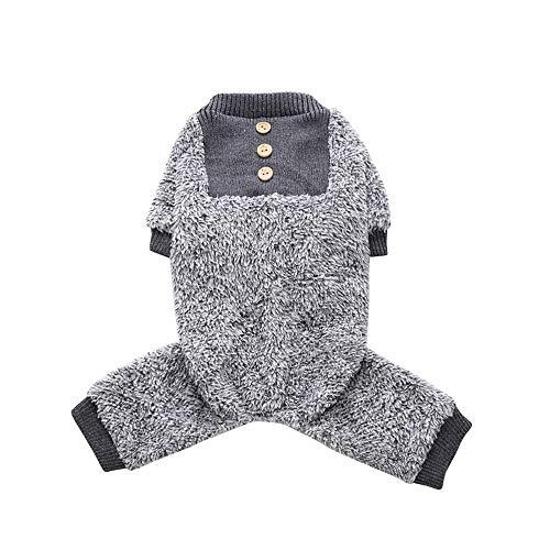 Oncpcare - Pijama de forro polar para perro, suave y cálido, para perro, 100% algodón, ropa para perros pequeños y gatos