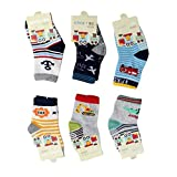 Cuteably™ Anti Slip Non Skid Slipper Socks with Grips For Baby Toddler Kids