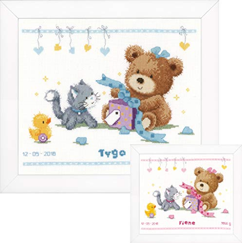 Vervaco Stickpackung Geburt, Zählmuster Zählmusterpackung, Baumwolle, Mehrfarbig, 29 x 23 x 0,3 cm