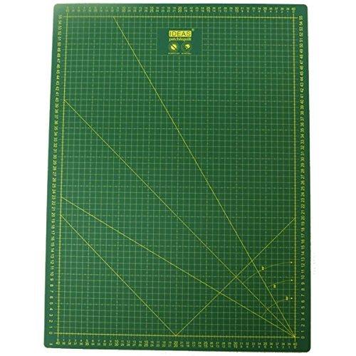 Base de corte de alta calidad Verde 60x45 auto cicatrizante por una lado en centímetros y por el otro en pulgadas
