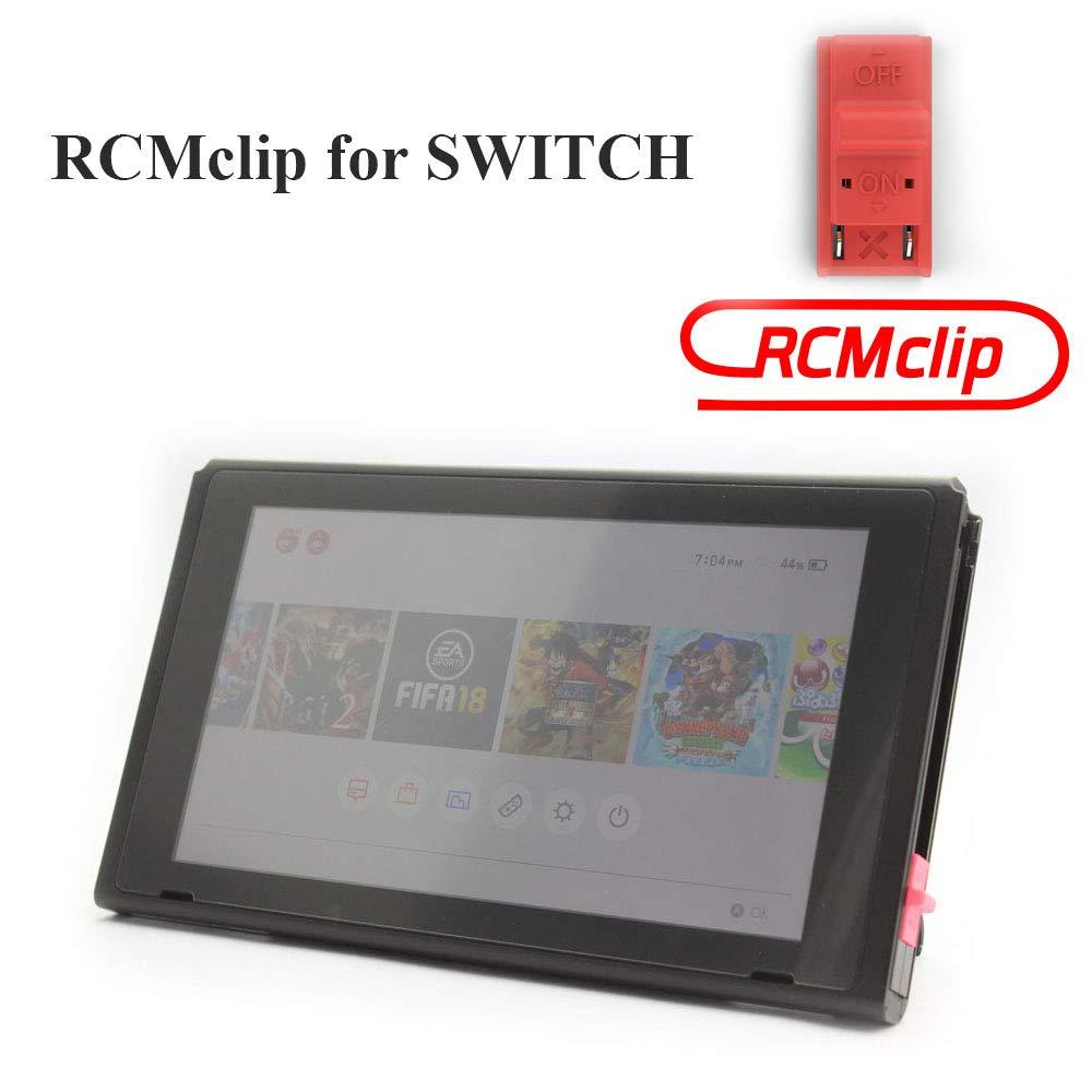 TAACOO RCM Jig para Nintendo Switch Joy-con Crack Tools Modo de Recuperación Clip Conector Corto para Switch Archive Modificación, Rojo: Amazon.es: Deportes y aire libre