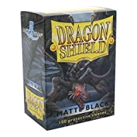 Dragon Shield Matte Black 100 Deck Protective Sleeves in Box, Standard Size for Magic he Gathering (66x91mm) [並行輸入品]