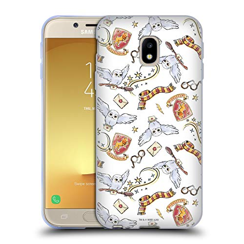 Head Case Designs Ufficiale Harry Potter Hedwig Owl Modello Deathly Hallows XIII Cover in Morbido Gel Compatibile con Samsung Galaxy J3 (2017)