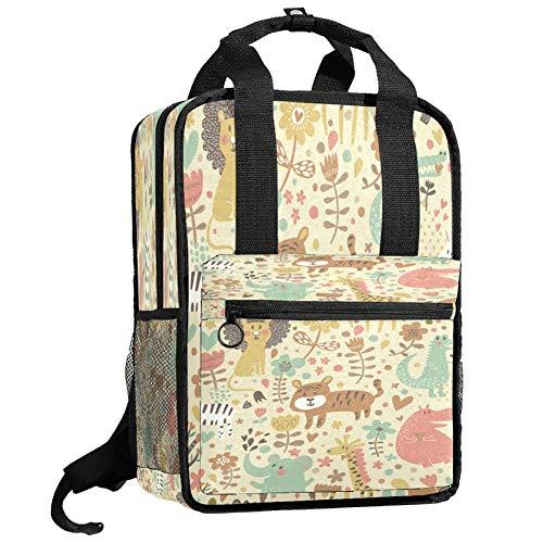 Backpacks Shoulders Bag happy animal gathering Backpack traveling middle school high school