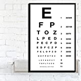 yiyiyaya Realismus Ölgemälde Poster und Drucken Modern Eye TestChart Beste Augen Test Angebote Poster Wandkunst Bild Leinwand Malerei für Raum Home Decor-30x42_cm_Unframed_0002