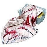 Sciarpa da donna Grande sciarpa quadrata sciarpa da donna scialle in seta stampata turbante