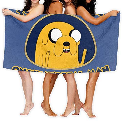 Anganganiel Toallas de baño Adventure Time Jake's Reality Toallas Suaves súper absorbentes Toallas de Secado rápido Moda Deportes Viajes Playa Toalla de Piscina 80cm × 130cm