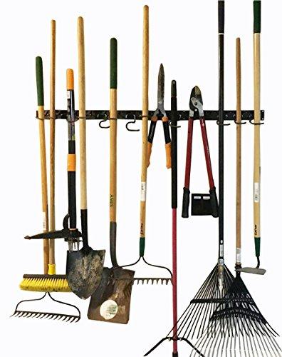 Sistema de almacenamiento ajustable de 48 pulgadas, soportes de pared para herramientas, organizador de herramientas de jardín de montaje en pared, almacenamiento en garaje