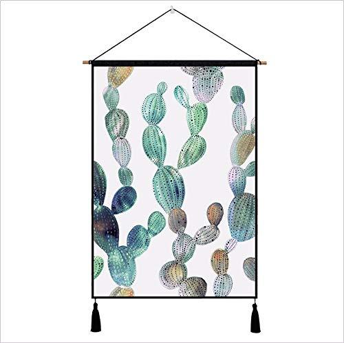 Djkaa wandhouder voor stof planten bodem schaal teller box deksel stof katoen linnen kunst schilderij