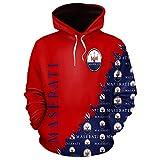 LIULL Sport Hoodies Pullover Mase. Auto-Logo Digital-Sweatshirt Druck Baseball Uniform Teens Jacke A-S