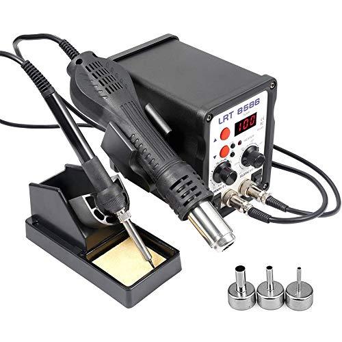 GJXJY Estación de Soldadura Digital Kit del Soldador Eléctrico Profesiona 80-480°C con Pantalla LED, para Herramienta de Desoldadura BGA IC