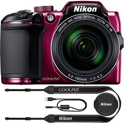 Nikon COOLPIX B500 16MP 40x Optical Zoom Digital Camera w/Wi-Fi (Plum) - (Renewed)