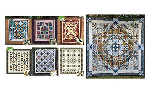 Cozy Quilt Designs Pattern Bundle - All Seven Patterns for The ''Bel Canto'' Block of The Month Series - Concerto, Sonata, Crescendo, Duet, Ensemble, Nocturne, and Finishing Bel Canto