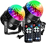 NEQUARE Party Lights Disco Ball Strobe Light Disco Lights 20 Colors Sound Activated Stage Light with Remote Control for Kids, Festival Celebration Birthday Xmas Wedding Bar Club Party
