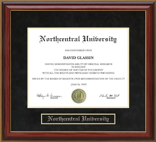 Wordyisms Direct stock discount Northcentral Charlotte Mall University NCU Mahogany Frame Diploma