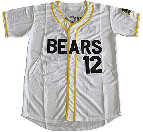 Supereasydeal Bad News Bears #12 Tanner Boyle Movie 1976 Chico's Bail Bonds Baseball Jersey (Medium, White)
