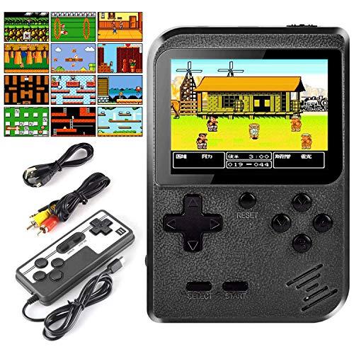 Lunriwis Handheld Spielkonsole,400 Klassische Spielen tragbare Retro-Videospielkonsole Unterstützt das Anschließen an den TV-Anschluss und Zwei Player, Geburtstag Weihnachten Geschenk für Mann Frauen