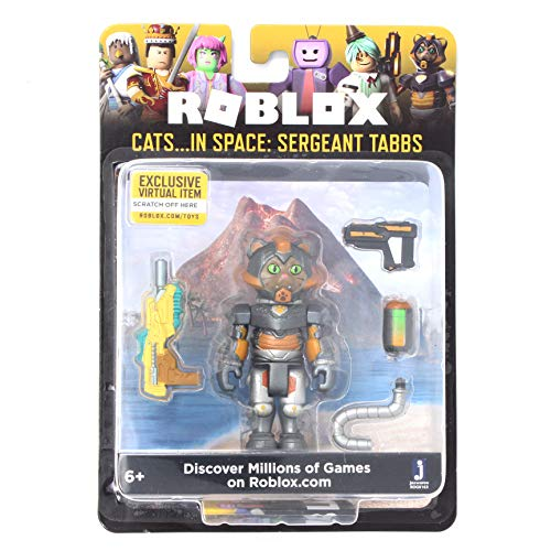 Roblox Cats...in Space: Sergeant Tabbs 2.75 Inch Figure with Exclusive Virtual Item Code