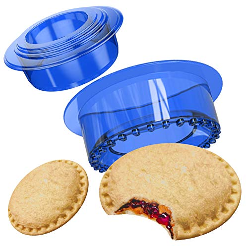 OHYGGE Uncrustables Sandwich Maker - Sandwich Cutter for Kids - Sandwich Cutter and Sealer for Lunchbox and Bento Box - Boys and Girls Kids Lunch - Blue