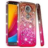 SHUYIT Motorola Moto E5 Plus Hülle, Flüssig Treibsand
