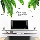 WALDEKERS YIHOPAINTI DIY Removable Wall Decal Stickers Love Palm Tree Wall Stickers for Kids Room Living Room Office Bathroom Kitchen Bedroom Home Decor (palm tree 2335')